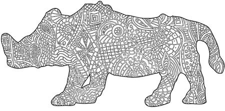 Rhino color in book