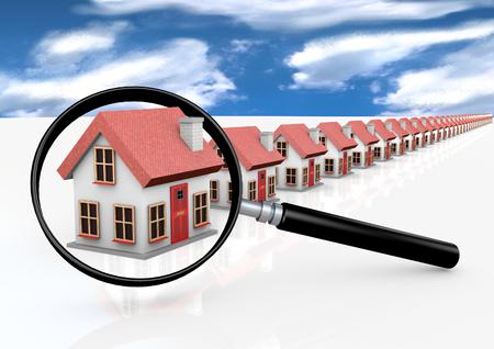 Foto de House with magnifying glass - Imagen libre de derechos