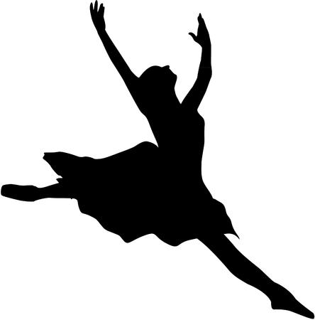 Ilustración de ballet dancer silhouette - Imagen libre de derechos