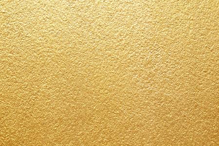 Foto de Shiny yellow leaf gold foil texture background - Imagen libre de derechos