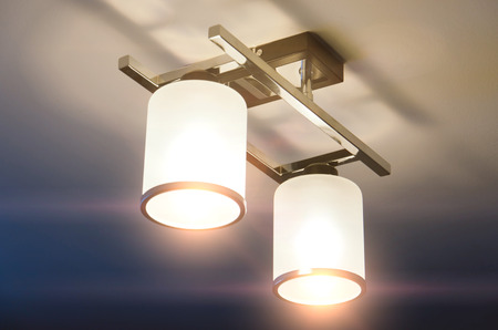 Foto per A Lighting lamp with bulbs in home - Immagine Royalty Free