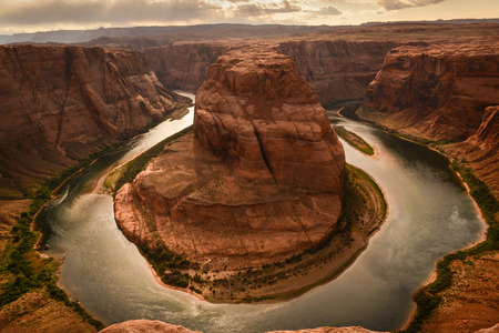 Photo for Horseshoe Bend of Colorado River near the town of Page, Arizona, USA - Royalty Free Image