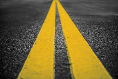 Photo for Asphalt highway with yellow markings lines on road  background - Royalty Free Image