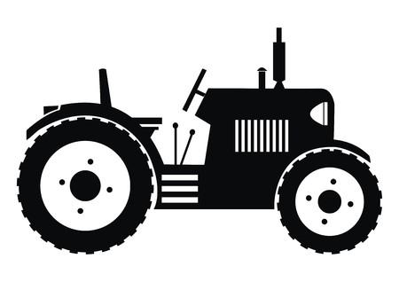 Illustration pour tractor - black illustration  - image libre de droit