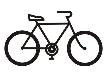 Illustration pour bicycle, black silhouette - image libre de droit