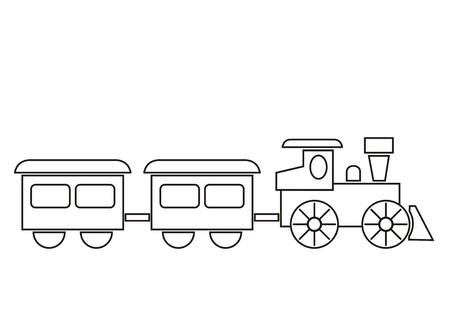 Illustration pour train, coloring book - image libre de droit