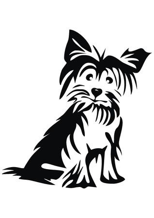 Illustration pour Yorkshire Terrier - image libre de droit