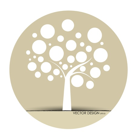 Foto de Abstract tree. Vector Illustration. - Imagen libre de derechos