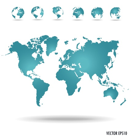 Illustration pour Modern globe. Vector illustration. - image libre de droit