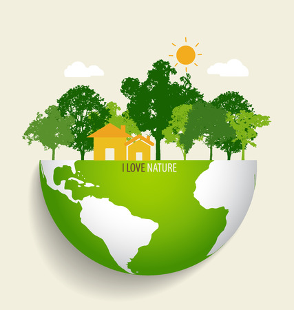 Ilustración de Green Eco Earth. Vector Illustration. - Imagen libre de derechos