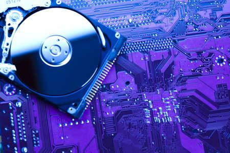 Hard disk background texture