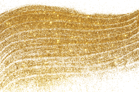 Foto de Textured background with golden glitter on white - Imagen libre de derechos