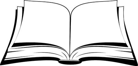 Illustration pour Open book on a white background. Vector illustration. - image libre de droit