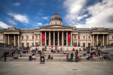 Photo for LONDON, UNITED KINGDOM - MAY 14: The national gallery at Trafalgar square on May 14, 2018 in London - Royalty Free Image