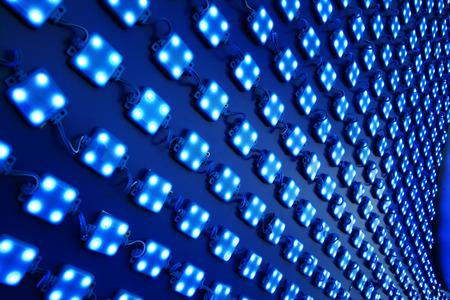 Foto de LED lights outdoor matrix board - Imagen libre de derechos