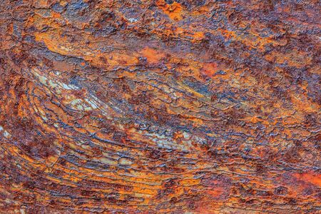 Foto de Orange Metal rusty background, Metal grunge texture - Imagen libre de derechos
