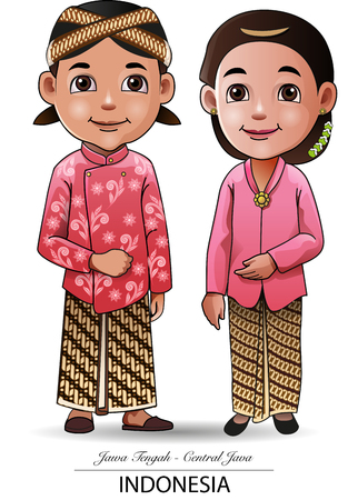 Illustration for Vector illustration, Javanese traditional cloth - Royalty Free Image