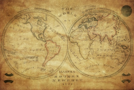Photo for vintage map of the world 1833   - Royalty Free Image