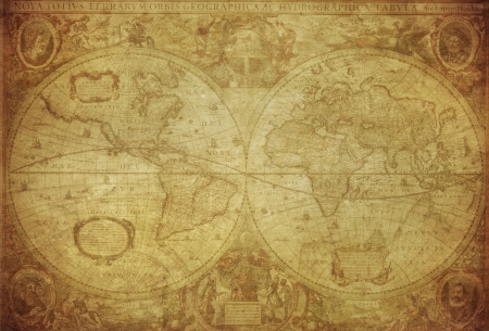 Photo for vintage map of the world 1630   - Royalty Free Image