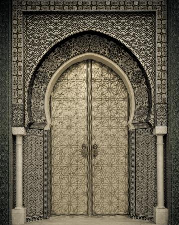Foto de Ancient doors, Morocco - Imagen libre de derechos