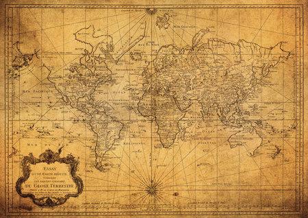 Photo pour vintage map of the world 1778   - image libre de droit