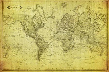 Foto de vintage map of the world 1831   - Imagen libre de derechos