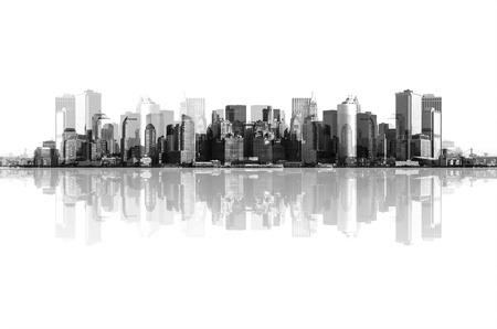 Photo pour panorama of manhattan, new york - image libre de droit