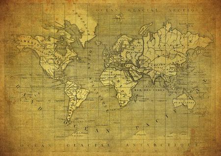 Foto de vintage map of the world published in 1847 - Imagen libre de derechos
