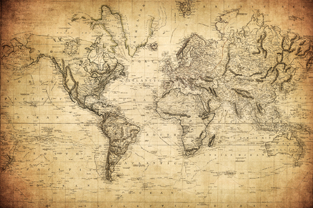 Photo for vintage map of the world 1814 - Royalty Free Image