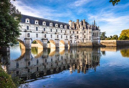 Photo pour Chateau de Chenonceau on the Cher River, Loire Valley, France - image libre de droit