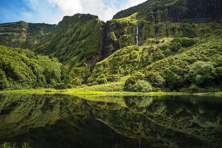Photo for Poco da Ribeira do Ferreiro, Flores island, Azores, Portugal. - Royalty Free Image