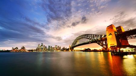 Foto per Sydney Harbor Panorama at twilight - Immagine Royalty Free