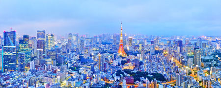 Photo for View of the Tokyo skyline at dusk - Royalty Free Image