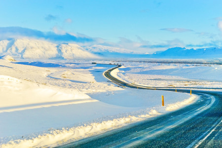 Photo for View of the snowy plateau in winter in Iceland. - Royalty Free Image