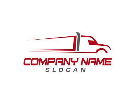 Illustrazione per Trucking company logo - Immagini Royalty Free