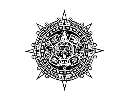 Illustration for Aztec calendar - Royalty Free Image