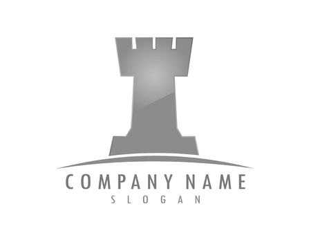 Illustration for Tower chess logo - Royalty Free Image