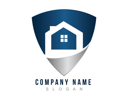 Illustration for House protection logo. - Royalty Free Image