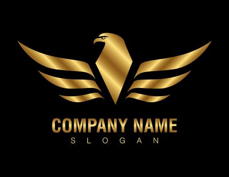 Illustration for Gold eagle logo - Royalty Free Image