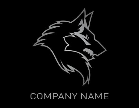 Illustration pour Wolf design black background - image libre de droit