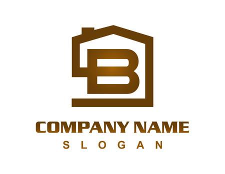 Illustration for Letter B house logo - Royalty Free Image