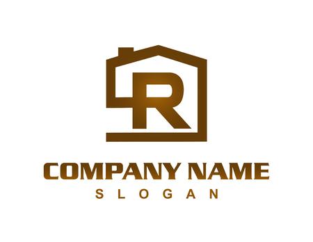 Illustration for Letter R house logo - Royalty Free Image
