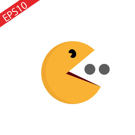 Illustration pour Vector yellow ball icon symbol sign on white.Game Character. eps10 - image libre de droit