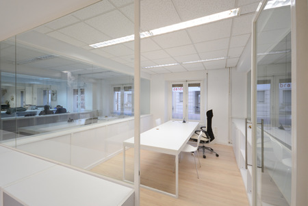 Photo for Empty modern office with white furniture - Royalty Free Image