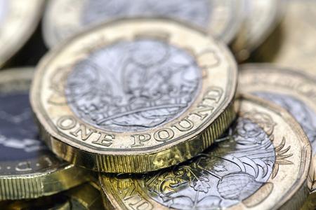 Photo pour One Pound Coin - UK - image libre de droit