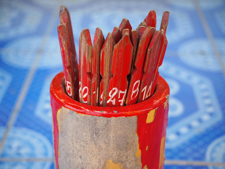 Photo for Chinese Bamboo Sticks Fortune Teller - Royalty Free Image