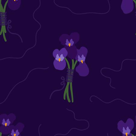 Illustration for Bunch of violets - vector background - Royalty Free Image