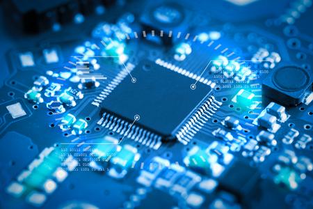 Photo pour Close-up electronic circuit board. technology style concept. - image libre de droit