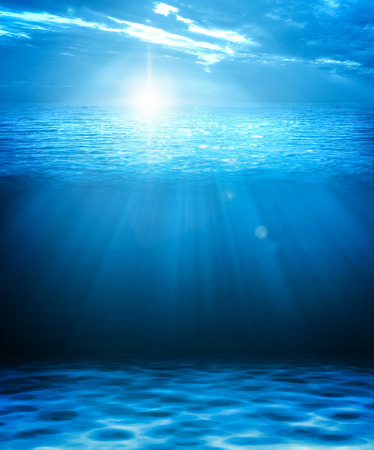 Foto per Blue deep water and sea abstract natural background. - Immagine Royalty Free