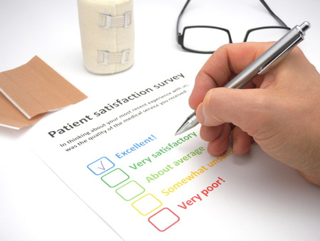 Photo for Rating excellent! in a patient satisfaction survey to assess the level of medical service - Royalty Free Image